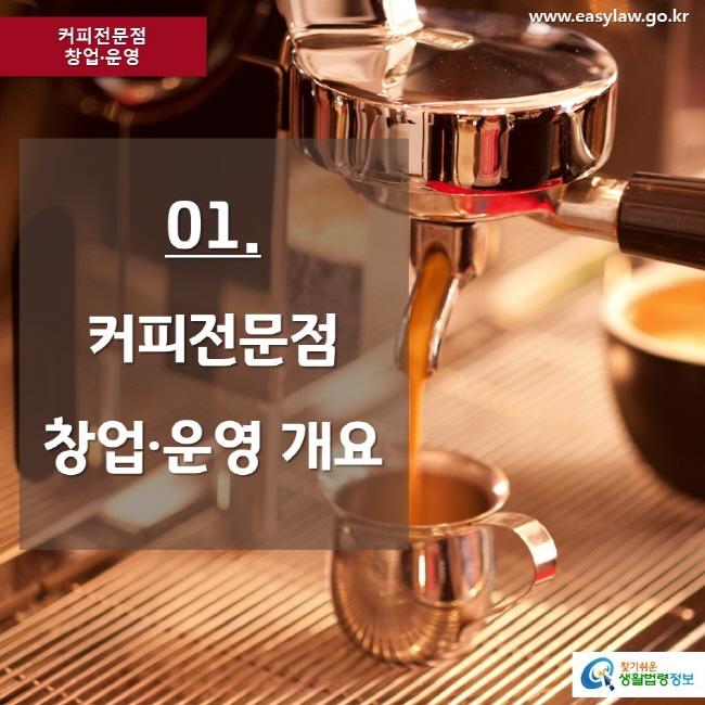 커피전문점 창업·운영 www.easylaw.go.kr 01. 커피전문점 창업·운영 개요 찾기쉬운 생활법령정보