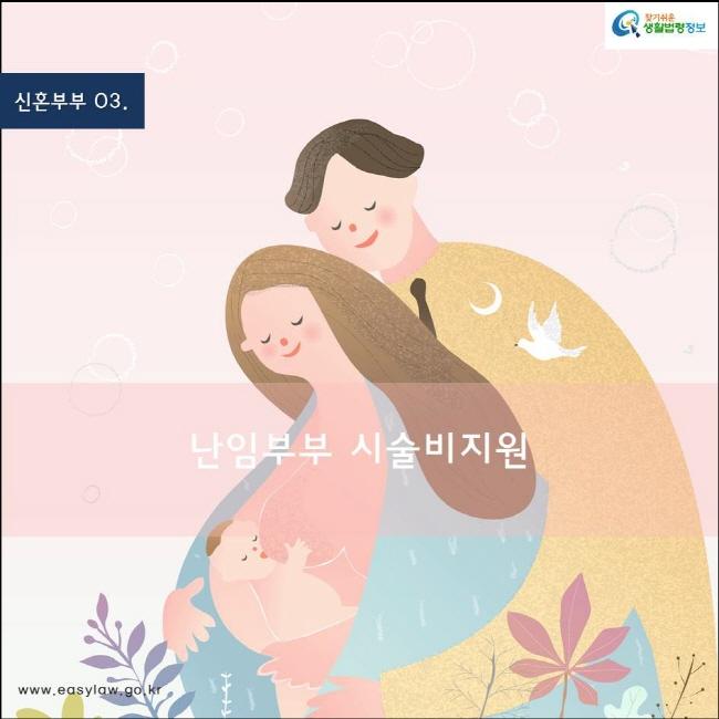 (신혼부부) 01 (난임부부 시술비 지원) www.easylaw.go.kr 찾기쉬운 생활법령정보