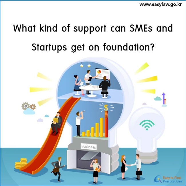 What kind of support can SMEs and Startups get on foundation?