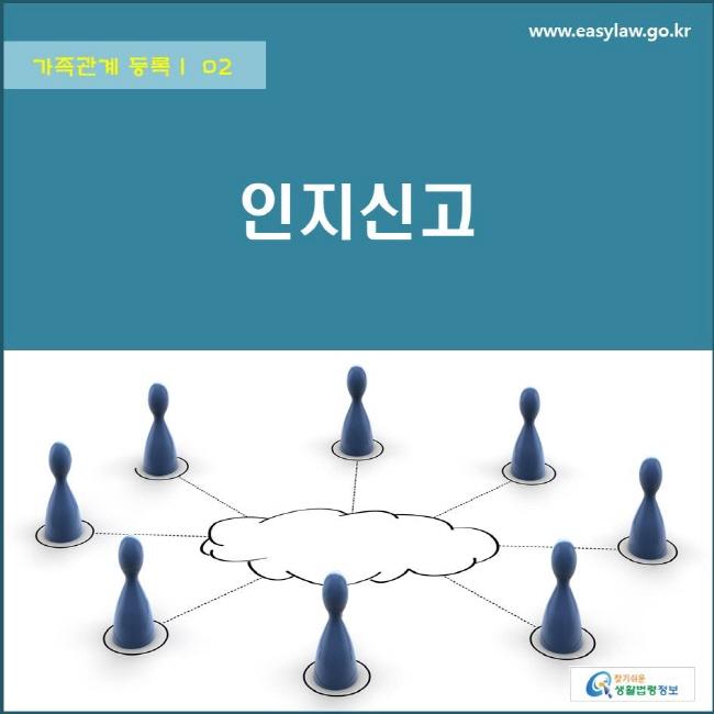 가족관계 등록 | 02 인지신고 www.easylaw.go.kr 찾기쉬운 생활법령정보 로고