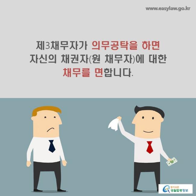 제3채무자가 의무공탁을 하면 자신의 채권자(원 채무자)에 대한 채무를 면합니다.
