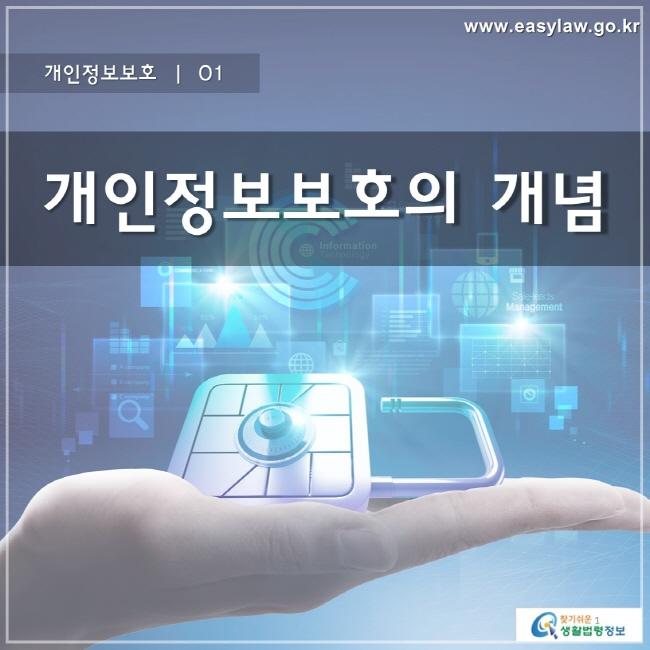 개인정보보호 | 01 개인정보보호의 개념 www.easylaw.go.kr 찾기 쉬운 생활법령정보 로고