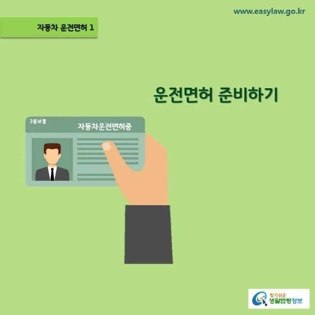 (자동차 운전면허) 01 (운전면허 준비하기) www.easylaw.go.kr 찾기쉬운 생활법령정보