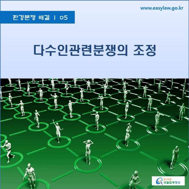 환경분쟁 해결 | 05 다수인 관련 분쟁의 조정 www.easylaw.go.kr 찾기쉬운 생활법령정보 로고