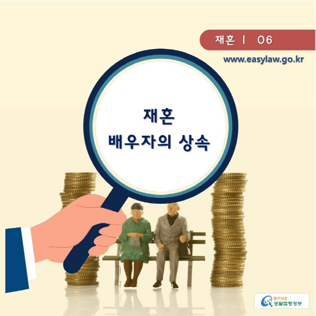 찾기쉬운생활법령정보 www.easylaw.go.kr  재혼 ㅣ  06 재혼 배우자의 상속