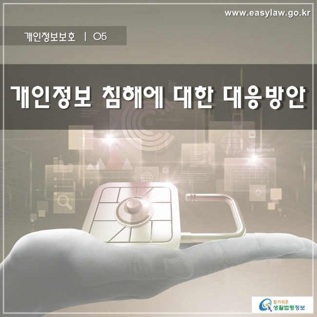 개인정보보호 | 05 개인정보 침해에 대한 대응방안 www.easylaw.go.kr 찾기 쉬운 생활법령정보 로고