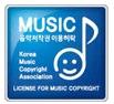 개 기관(한국음악저작권협회)에서만 이용허락 인증된 웹사이트의 경우 음악저작권 이용계약 인증표시