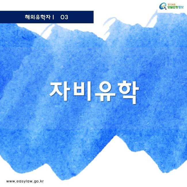 해외유학자 03 찾기쉬운 생활법령정보 로고 www.easylaw.go.kr 자비유학