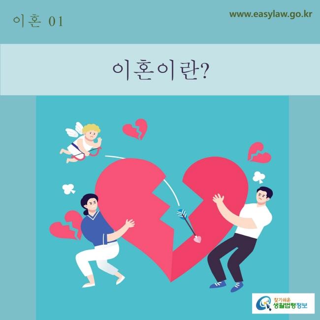 01. 이혼_ 이혼이란? www.easylaw.go.kr 찾기 쉬운 생활법령 로고