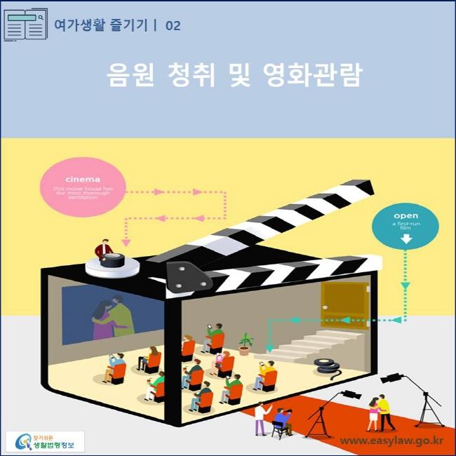 (여가생활 즐기기) 02 (음원 청취 및 영화관람) www.easylaw.go.kr 찾기쉬운 생활법령정보