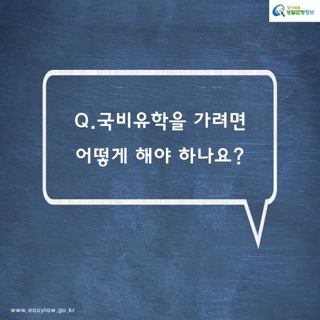 Q. 국비유학을 가려면 어떻게 해야 하나요?